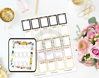 Printable Designer Inspired Clipboard Planner Stickers for ECLP