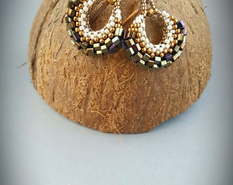 Handmade peyote earrings Gift for her Miyuki earrings