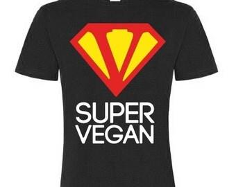 SUPER VEGAN - Men's basic shirt - BLACK