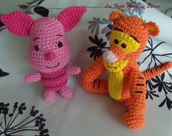 Tigger and piglet to crochet