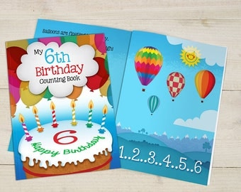 My 6th Birthday Counting Book Un-personalised