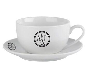 Monogram Circle Cup & Saucer