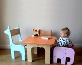 MULTIPLE ITEMS Toddler elephant chair  Giraffe Whale Stag Brontosaurus Childrens Chair and Table