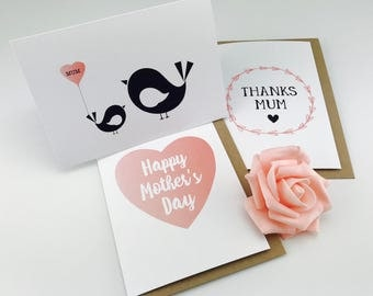 Mummy & Baby Bird Card
