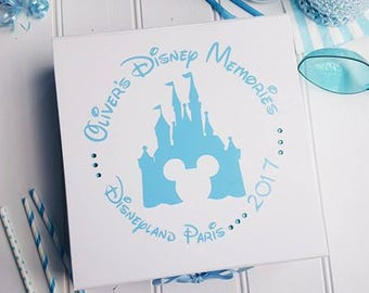 Disney Memories - Keepsake Memory Gift Box - Available in Gold . Silver, Hot Pink, Black