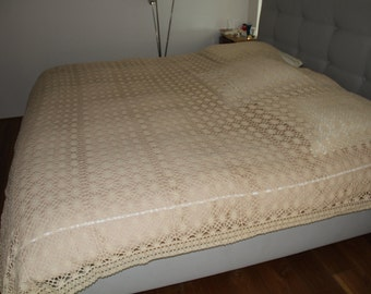 240 X 230 crocheted lace bed covers