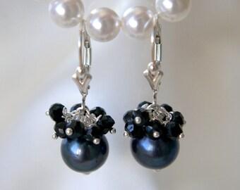 Black pearls spinel earrings Black Pearl spinel earrings