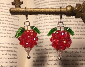 Dirigible Plum Earrings **Red Iridescent Color** - Luna Lovegood inspired