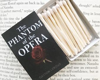 Phantom of the Opera Book Matches // Gaston LeRoux // Stocking Stuffers