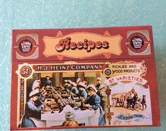 H J Heinz Co vintage advertising graphics metal recipe box