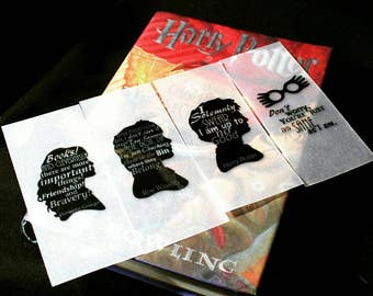 Harry Potter Laminated Translucent Quote Bookmarks Set of 4