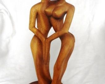 Couple dancing, wood carving (#abhldjra12.5)