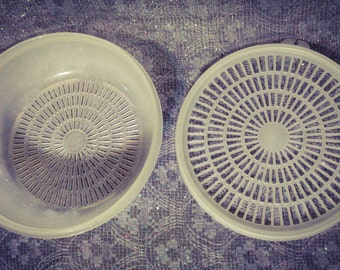 Tupperware 1830 FRUIT Strainer    Collectible  PreOwned    Excellent Conditionfor Uses or Collecting