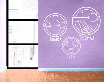 You're Name in Circular Gallifreyan - Custom Doctor Who Wall Decal