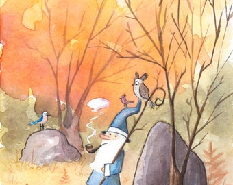 Wizard Walk-8 1/2 x 11 Watercolor Print