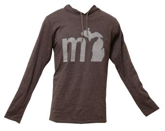 MI Michigan Lightweight Hoodie - Charcoal