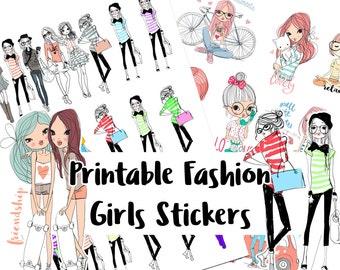 Fashionistas  Stickers for Planners   Kikki K   Filofax   Happy Planner   Erin Condren