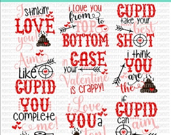 Valentine's Day Toilet Paper SVG Bundle, DXF, EPS, png Files for Cutting Machines Cameo or Cricut - Poop Svg, Valentine Svg, Valentine Gift