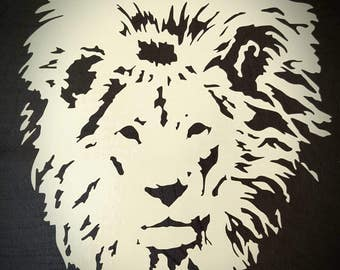 Vinyl Decal- Male Lion