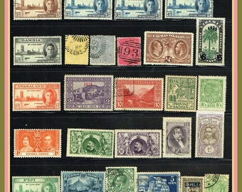 Older Mix of Better Worldwide Stamps - Collectors' Vintage Stamp Group - 100 All Different Stamps