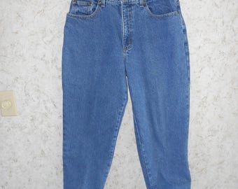 Vintage LL Bean Flannel Lined High Waisted Mom Denim Jeans Relaxed Fit Cotton Jean Retro Hip Hop Hipster Comfy Womens 14 Petite