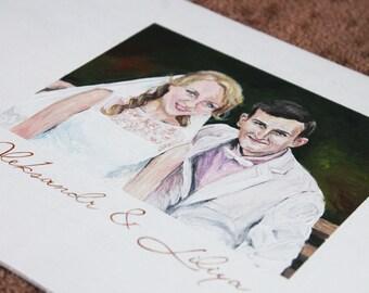 Wedding guest book portrait