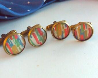 Handmade cufflinks,abstract, abstract cufflinks, abstract cuff links, wedding cuff links, wedding cufflinks, handmade, cufflinks, jewelry