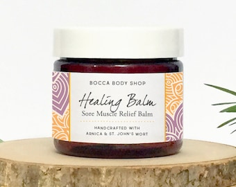 Sore Muscle Relief Balm, Healing Balm, Arnica Healing Balm, Arnica Salve, Muscle Mend Healing Ointment, Pain Relief Muscle Rescue Balm