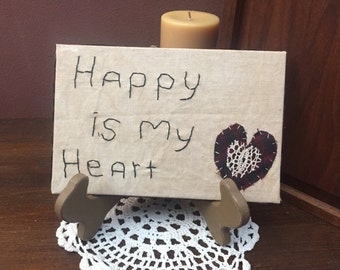 Primitive Heart Embroidery