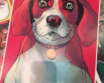 Pretzels the Beagle print.