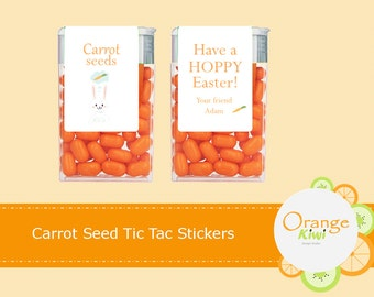 Carrot Seeds, Easter Tic Tac Stickers, Party Favor Tic Tac Labels, Bunny Treats, Easter Favors, Easter Gift Labels