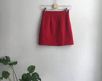 Vintage 90's XOXO red mini skirt xs