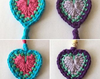 Handmade crochet Boho keychain