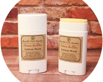 Cocoa Butter Lotion Stick. Handmade with Certified Organic Ingredients.