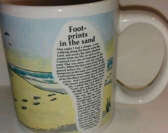 Footprints in the Sand Collectible Coffee Mug 1994