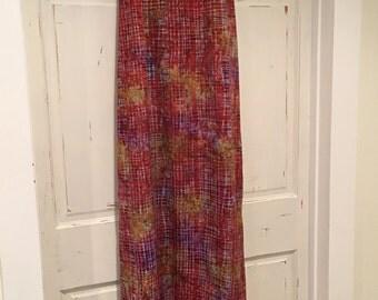 Maxi Dress / Tie Dye & Blocks