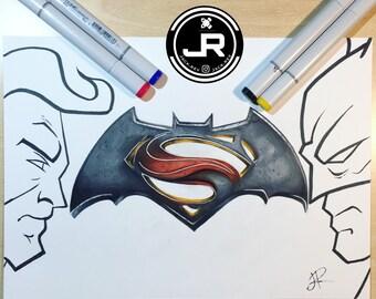Batman vs Superman (PRINT)