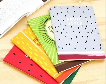 Fruit Style Notebooks | Watermelon, Kiwi, Orange, Dragon Fruit