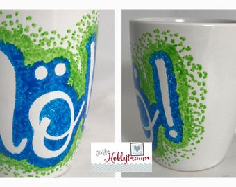 hand-painted Cup, coffee cup, Tea Cup, CoffeeCup, coffee