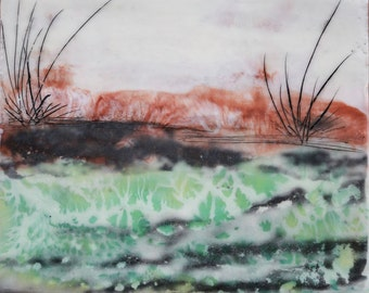 Land Before Time (1) Original Encaustic Painting