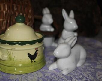 """Gockel""""- ceramic, Schwarzwald: """"Hahn&Henne"""", hen-sugarcup"""