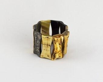 Cuff in Horn bracelet gross made in Haiti