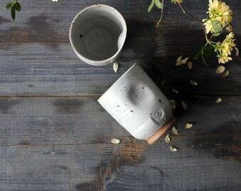 White ceramic tumbler, White ceramic espresso cups, Espresso cup set, Espresso cup pottery, pottery espresso set handmade, handmade tumbler
