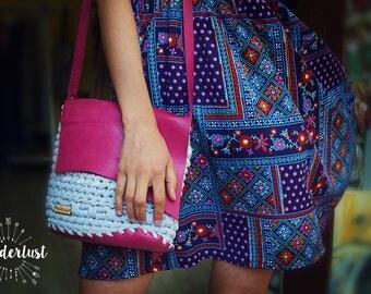 Summer Crossbody Bag / Trapillo / Knitting bag / Bohemian Bag / Boho Knit Bag /Croched Bag  / Crossbody Bag / Bohemian Bag / Gift for Her /
