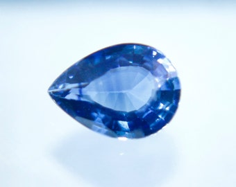 Ceylon Natural Blue Sapphire Pear Cut 7mm