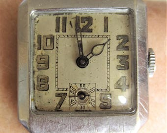 Rare Ladies 1920s Swiss Lady May Mechanical Watch Sub Dial AS 340 15J 2 Adjusts for Sale