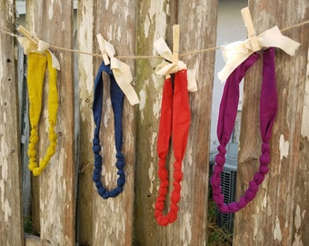 Organic Knotted Teething/Nursing Necklaces - 44 to 45 inch total length