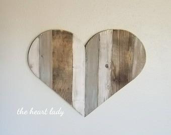 Wood heart wall art