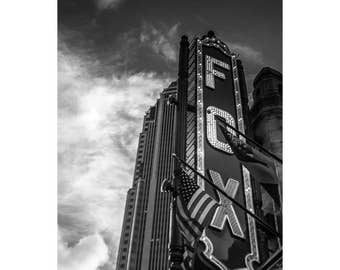 Fox Theater Atlanta Photography Large Print Office Wall Art Black and White Atl Photograph Landmark Home Restaurant Decor Historic Photo
