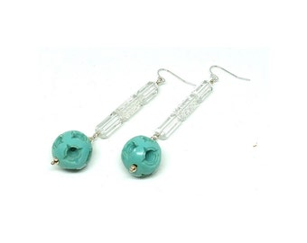 Vintage 1920s Earrings | Art Deco Earrings | Drop Earrings | Glass Earrings | Celluloid Earrings | 1920s Earrings | Statement Earrings